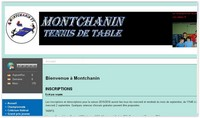 Site du MONTCHANIN Tennis de Tabe